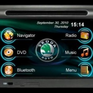 Opal - In-dash Navigation system to suit: Skoda Octavia